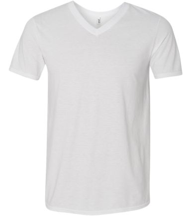 6752 Anvil  Triblend V-Neck T-Shirt White