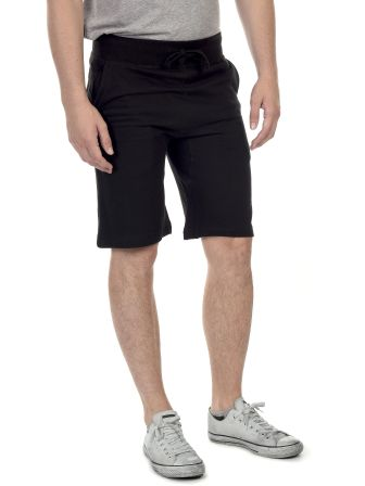 M7640 Cotton Heritage Fleece Rib Jogger Shorts Black