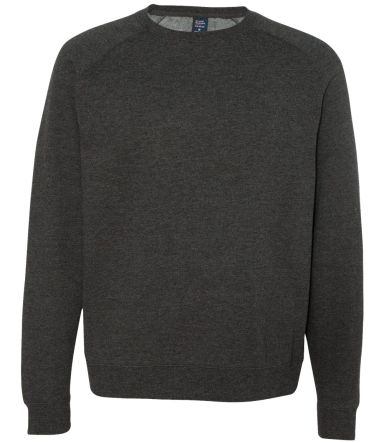 IND30RC Independent Trading Co. Fitted Raglan Crew Charcoal Heather