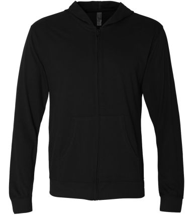 Next Level 6491 Sueded Lightweight Zip Up Hoodie BLACK
