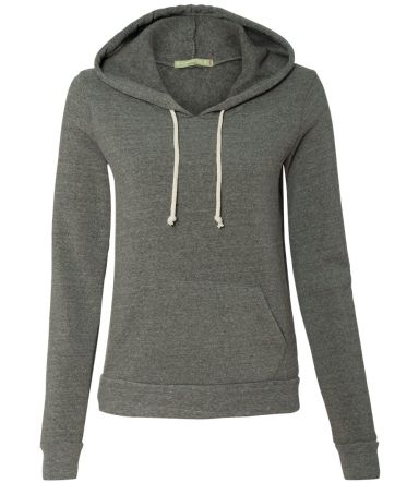 Alternative Apparel 9596 Womens Eco-Fleece Pullove ECO GREY
