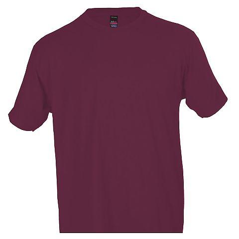 0290TC Tultex Unisex Ring-Spun Cotton Tee 290 Burgundy