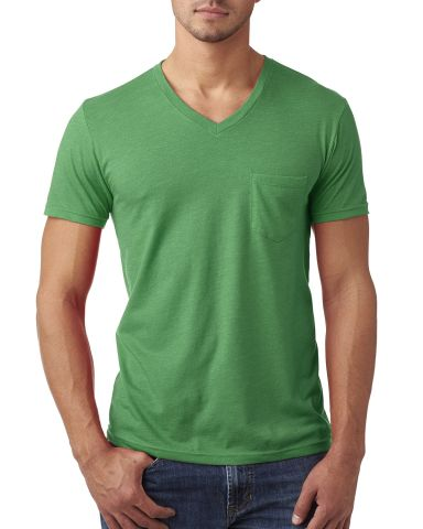 Next Level 6245 Men's CVC Tee with Pocket KELLY GREEN