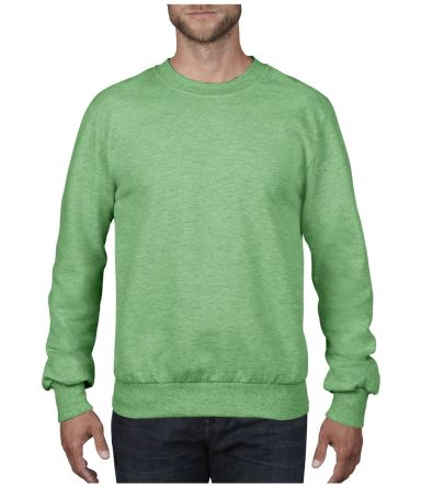 72000 Anvil Adult Crewneck French Terry Heather Green