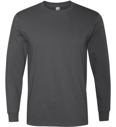 784AN Anvil Midweight Long-Sleeve T-Shirt Charcoal