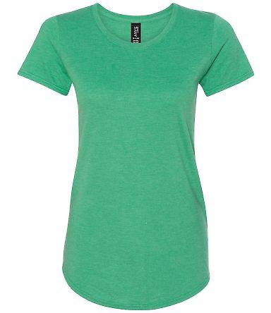 6750L Anvil Ladies' Triblend Scoop Neck T-Shirt Heather Green