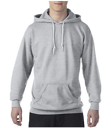 71500 Anvil 7.2 oz. Fleece Pullover Hood Heather Dark Grey