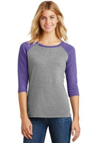 DM136L District Made Ladies Perfect Tri-Blend Raglan Catalog
