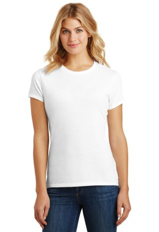 DM130L District Made Ladies Perfect Tri-Blend Crew White