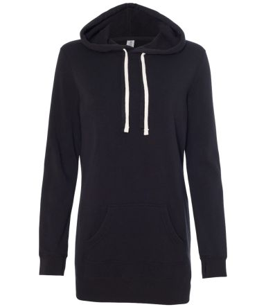 Independent Trading Co. PRM65DRS Women's Hoodie Dr Black