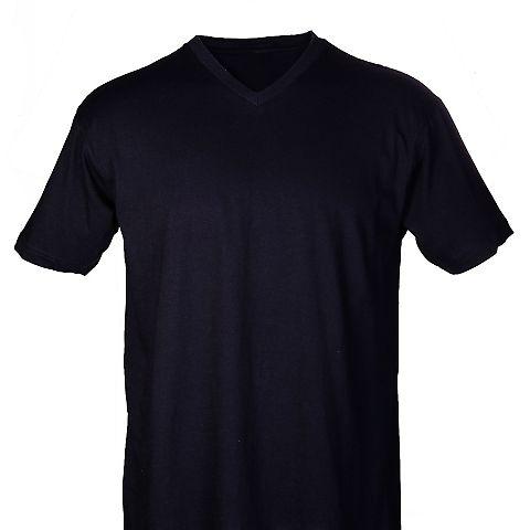 0206 Tultex Mens Fine Jersey V-Neck Tee Black