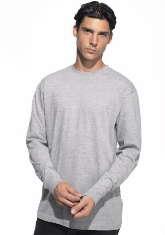 Cotton Heritage MC1182 Long Sleeve Cotton Tee Athletic Heather