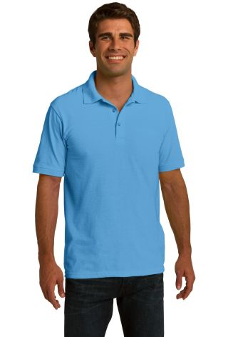 Port & Company KP150 Ring Spun Pique Polo  Aquatic Blue