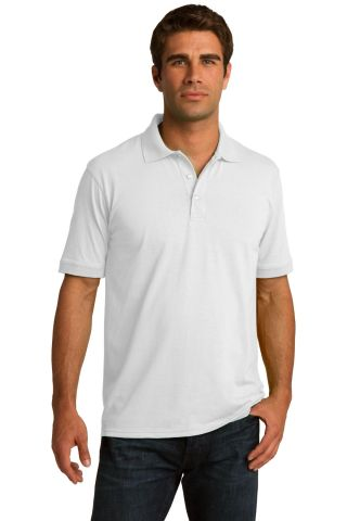 Port & Company KP55 Jersey Knit Polo White