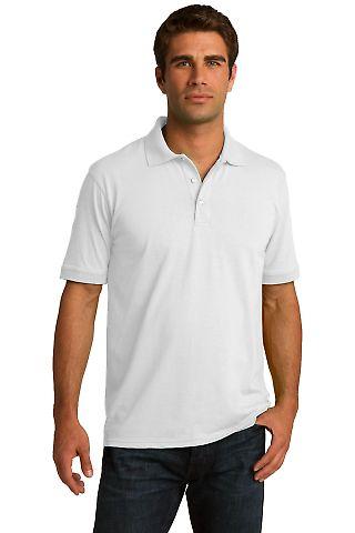 Port & Company KP55 Jersey Knit Polo White