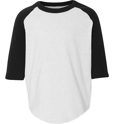 Augusta Sportswear 422 Toddler Baseball Tee WHITE/ BLACK