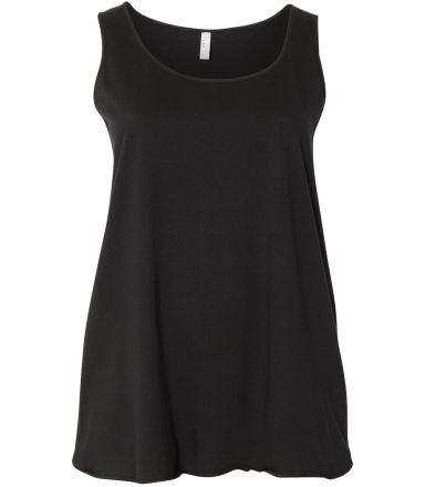 LAT 3821 Curvy Collection Women's Tank BLACK
