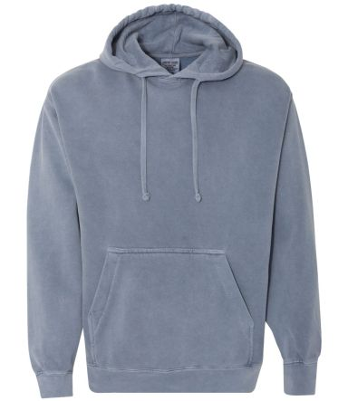 Comfort Colors 1567 Garment Dyed Hooded Pullover S BLUE JEAN