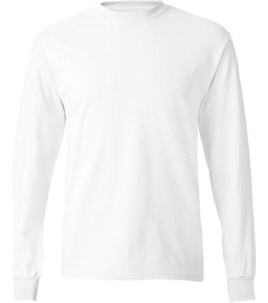 5586 Hanes® Long Sleeve Tagless 6.1 T-shirt - 558 White