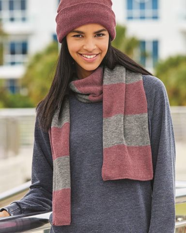 SP02 Sportsman  - Rugby Striped Knit Scarf -  Catalog