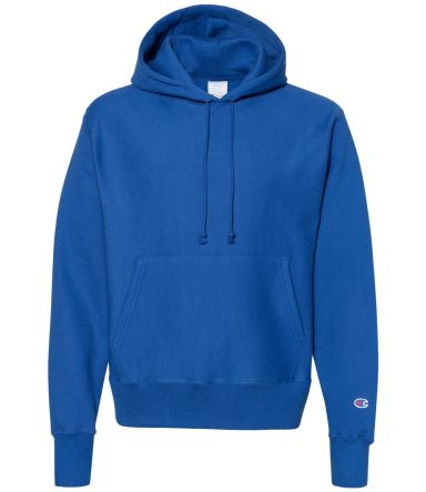 S1051 Champion Logo Reverse Weave Hoodie Athletic Royal