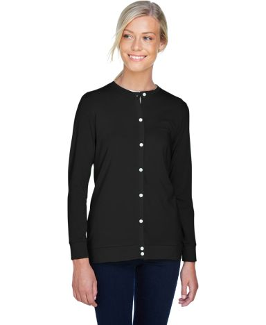 DP181W Devon & Jones Ladies' Perfect Fit™ Ribbon BLACK