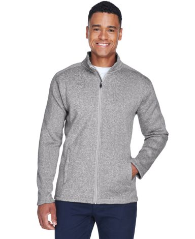 DG793 Devon & Jones Men's Bristol Full-Zip Sweater GREY HEATHER