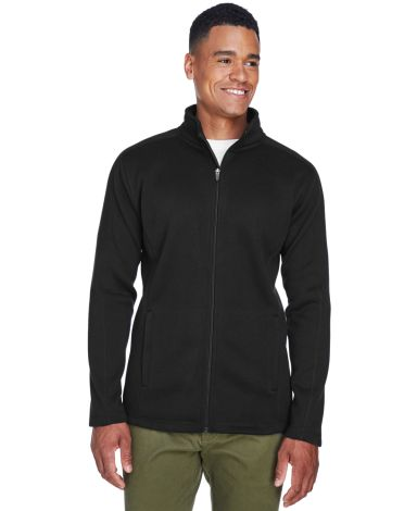 DG793 Devon & Jones Men's Bristol Full-Zip Sweater BLACK