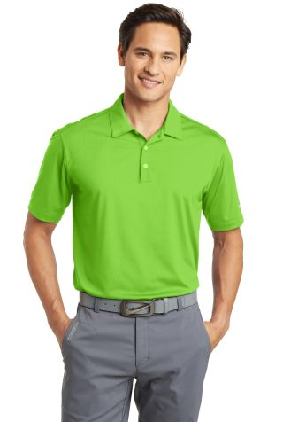 Nike Golf 637167  Dri-FIT Vertical Mesh Polo Action Green