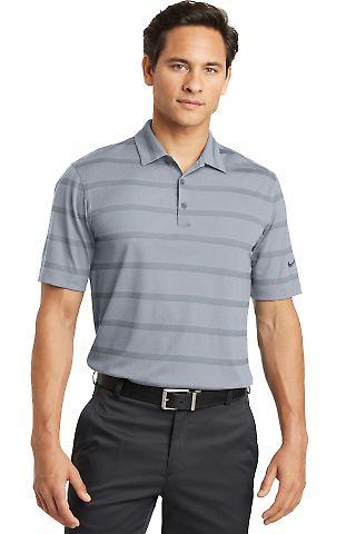 Nike Golf 677786  Dri-FIT Fade Stripe Polo Dk Stl Gy/Anth