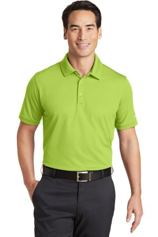 Nike Golf 746099  Dri-FIT Solid Icon Pique Modern  Chartreuse