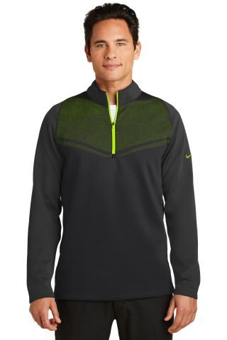 Nike Golf 779803  Therma-FIT Hypervis 1/2-Zip Cove Black/Volt