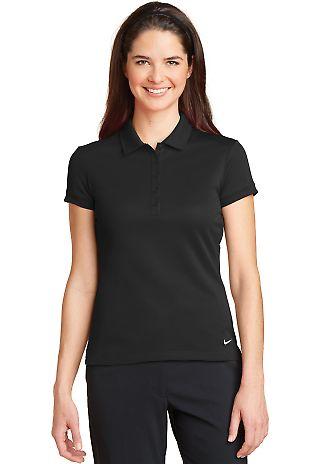 Nike Golf 746100  Ladies Dri-FIT Solid Icon Pique  Black