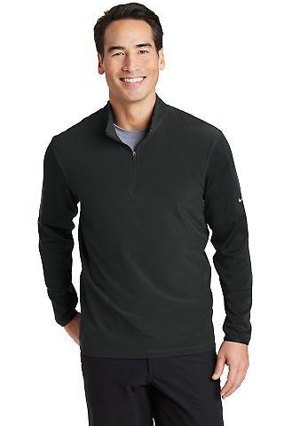 Nike Golf 746102  Dri-FIT Fabric Mix 1/2-Zip Cover Black/Black