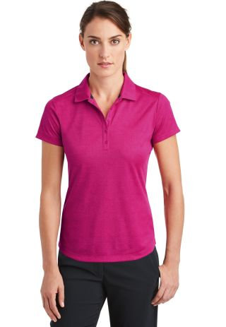 Nike Golf 838961  Ladies Dri-FIT Crosshatch Polo Firebry/Sp Fch