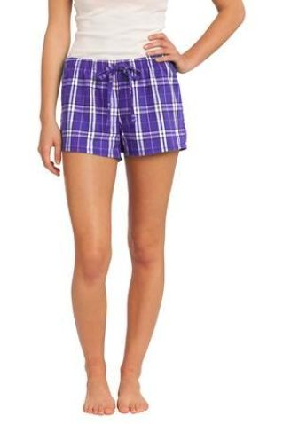 District DT2801    -Juniors Flannel Plaid Boxer Catalog