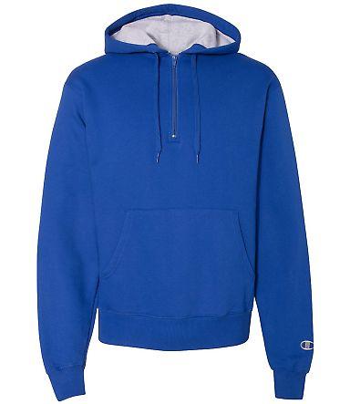 S185 Champion Logo Cotton Max Quarter-Zip Hoodie Athletic Royal