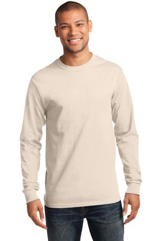 Port & Co PC61LST mpany   - Tall Long Sleeve Essen Natural