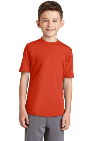 Port & Company PC381Y Youth Performance Blend Tee Orange