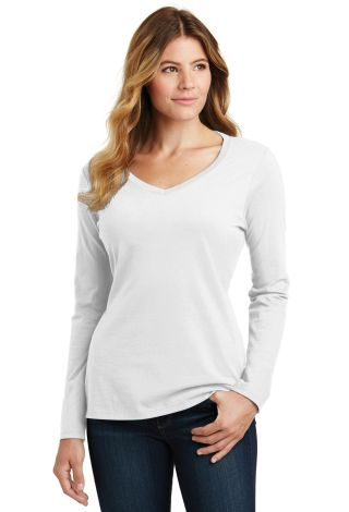 Port & Co LPC450VLS mpany   Ladies Long Sleeve Fan White