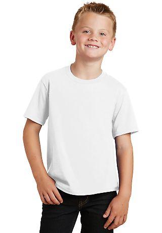 Port & Co PC450Y mpany   Youth Fan Favorite Tee White