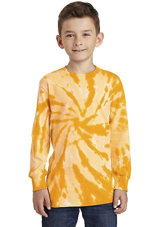 Port & Co PC147YLS mpany   Youth Tie-Dye Long Slee Gold