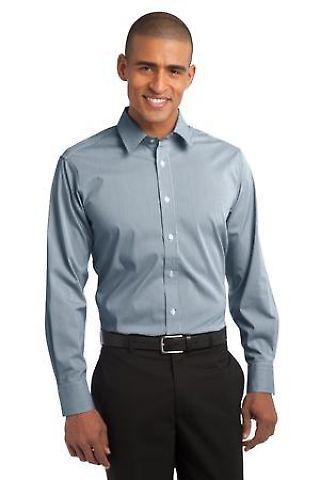 Port Authority S647    Fine Stripe Stretch Poplin Shirt Catalog