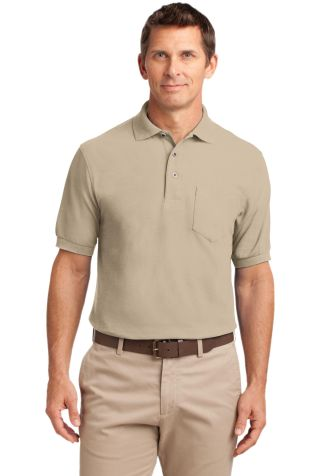 Port Authority TLK500P    Tall Silk Touch Polo wit Stone