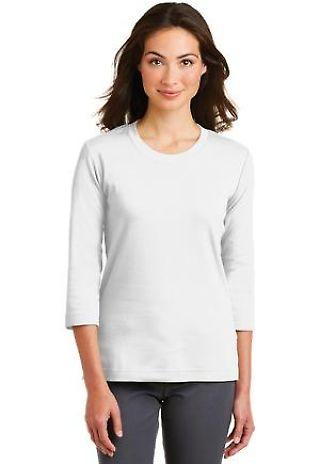 Port Authority L517    Ladies Modern Stretch Cotton 3/4-Sleeve Scoop Neck Shirt Catalog