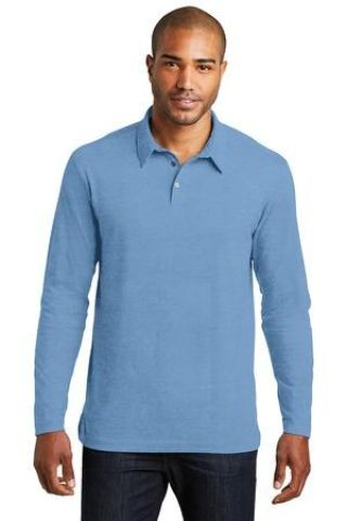 Port Authority K577LS    Long Sleeve Meridian Cotton Blend Polo Catalog