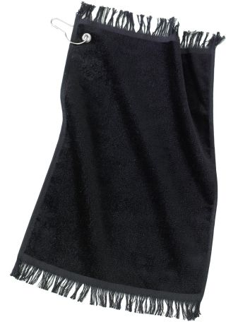Port Authority PT40    - Grommeted Fingertip Towel Black
