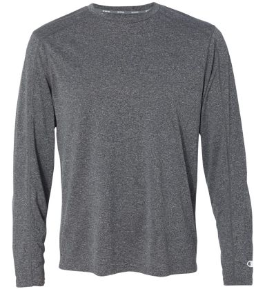 Champion CV26 Vapor Performance Heather Long Sleev Slate Grey Heather
