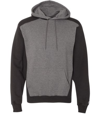Champion S750 Double Dry Eco Colorblocked Hooded S Black/ Charcoal Heather