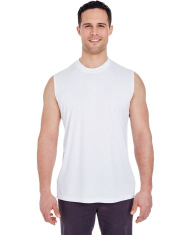 UltraClub 8419 Adult Cool & Dry Sport Performance  WHITE